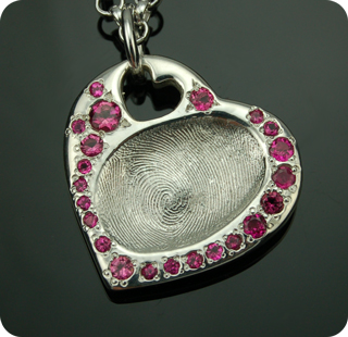 Imprint On My Heart Custom Fingerprint and Thumbprint Keepsake Charm and Pendant Silver and Gold Jewelry for Children through Adults, Love Notes Signature Collection and Inspiration Tags Collection