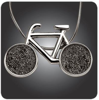 Imprint On My Heart Custom Fingerprint Bicycle Pendant