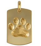 Pet Paw Dog Tag Medium