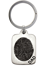 Medium Vertical Fingerprint Tag