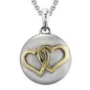 Yellow Gold Entwined Hearts Cremation Ash Pendant