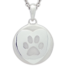 Heart and Paw Petite Cremation Ash Pendant