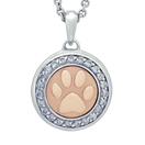 Paw with Diamonds and Rose Gold