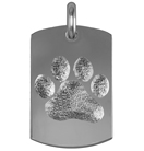 Pet Paw Dog Tag Large