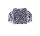 Men's Decorative Signet Ring