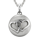 Entwined Hearts Cremation Ash Pendant