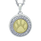 Paw with Diamonds and Yellow Gold