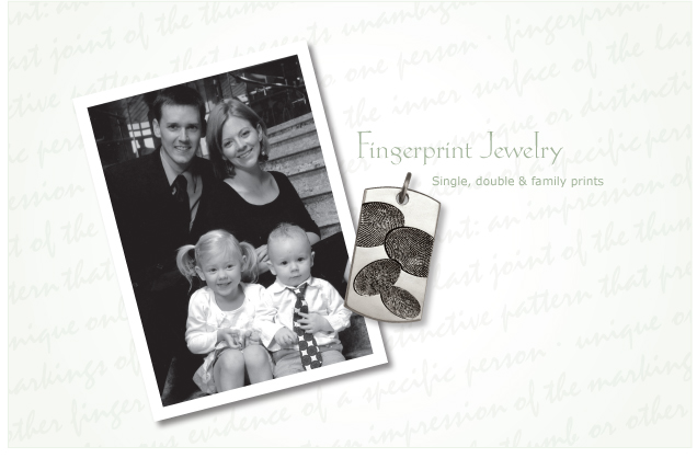 Imprint On My Heart Custom Fine Fingerprint Jewelry